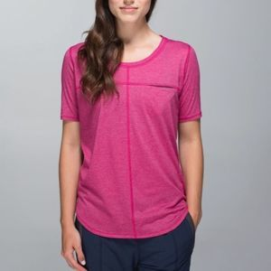 Lululemon Run Away Tee 6 Heathered Bumble Berry